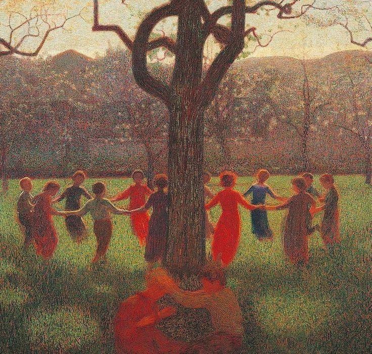 Pellizza da Volpedo, Ring Around the Rosie, 1906-7