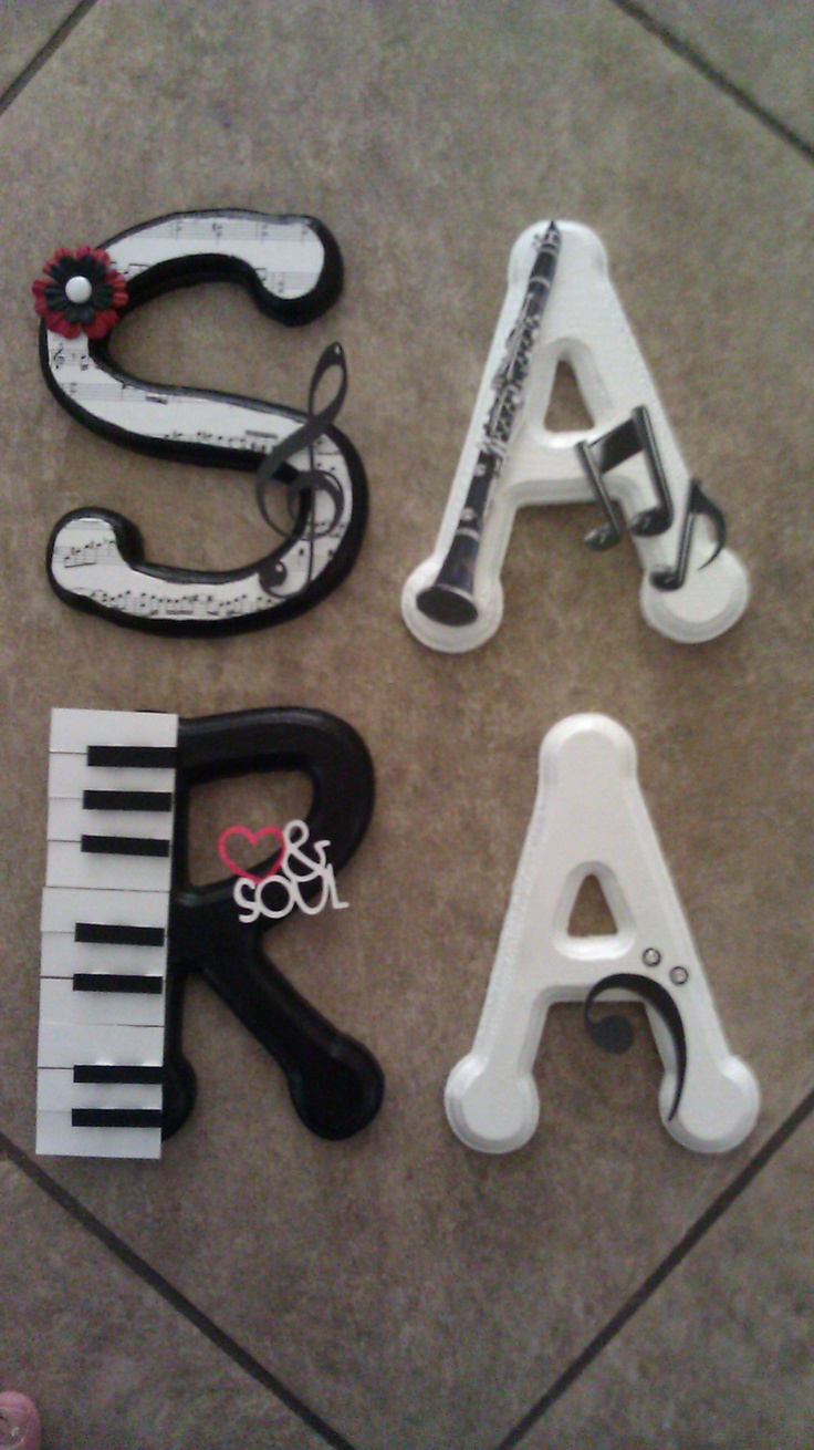 Custom Wooden Letters, hand-painted and designed by Kid Murals by Dana  Railey.