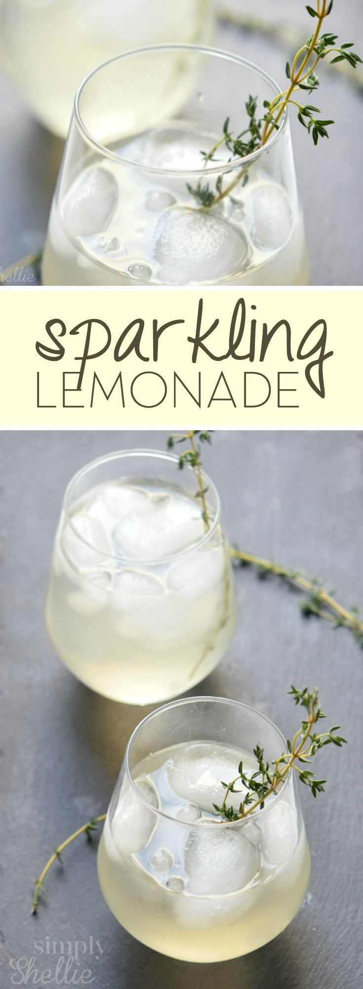 If you love lemonade, try this updated sparkling version. It's cool and refreshing. The perfect lemonade recipe for summer!