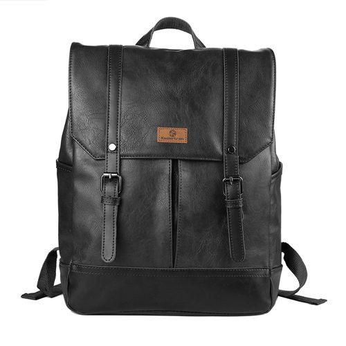 "Brand Men Backpacks PU Leather Fashion Bag Women Backpack 14"" School Laptop Bag Outdoor Travel Men's Backpacks Men bags"