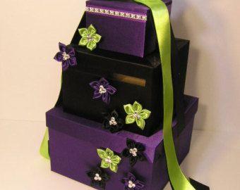 Wedding Card Box Champagne Gift Card Box Money Box by bwithustudio