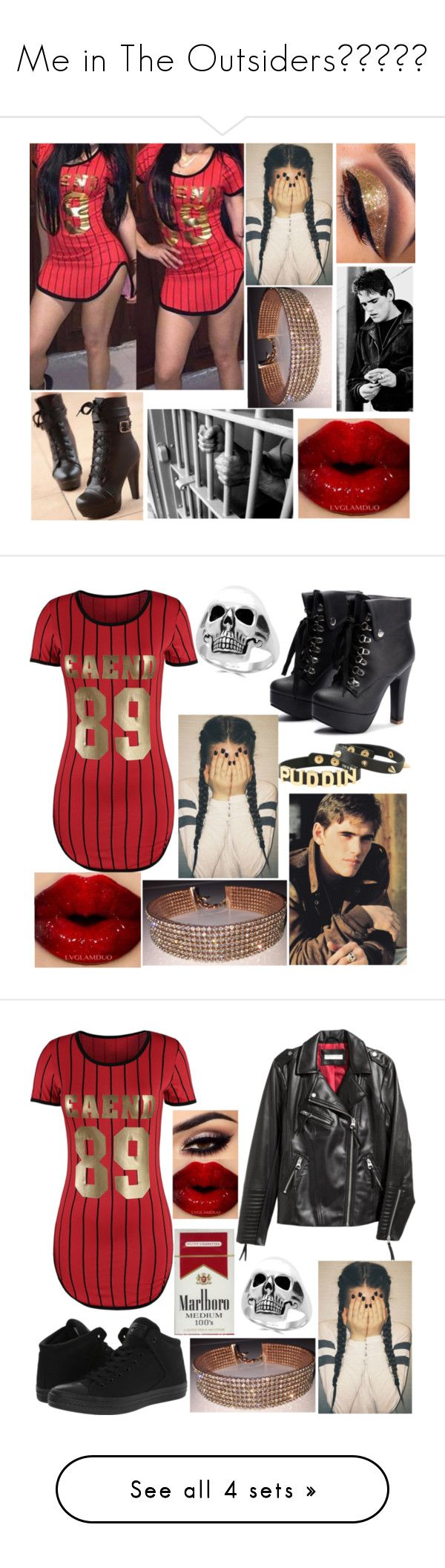 """""""Me in The Outsiders💎💎💎💎💎"""" by amesqueda ❤ liked on Polyvore featuring Colorful Shoes, Shae, Effy Jewelry, Converse, H&M and ICE London"""