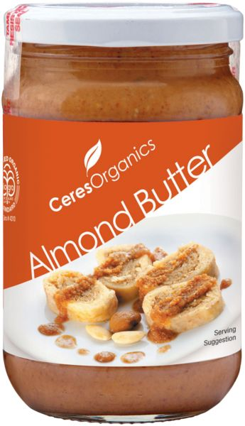 Ceres Organics Almond Butter uses almonds that have been lightly roasted and then ground, giving it a distinctive, rich flavour. Contains no additives, preservatives, colours or emulsifiers. It's delicious as a spread and a great ingredient in baking and for sauces.