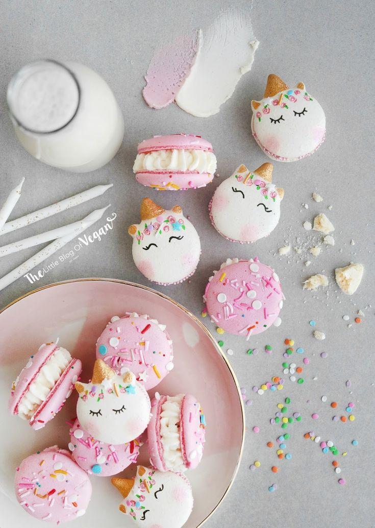 Unicorn Birthday Cake Macarons Recipe