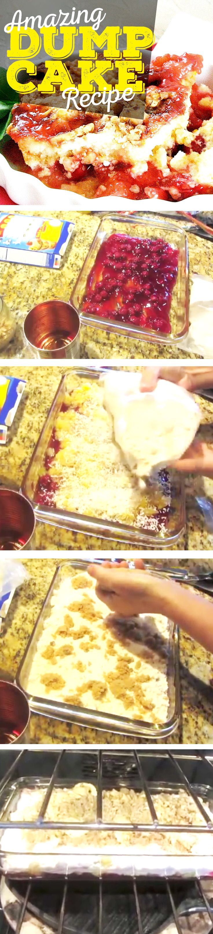 Dump Cake Recipes: Cherry Dump Cake Recipe... This is one of the best cakes with fruit I've ever had and one of the easiest dessert recipes!
