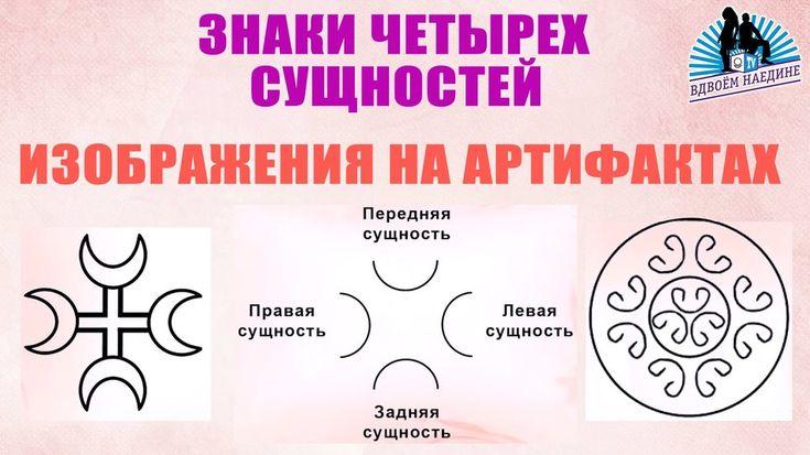 Знаки Четырёх сущностей. Изображения на артефактах. Из 15 ...
