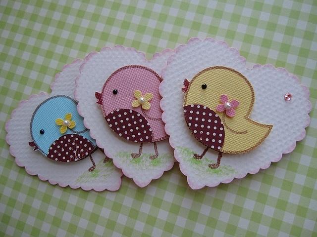 Sweet n Cute Bird Embellishments by vsroses.com, via Flickr