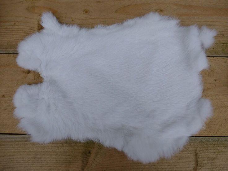 Witte konijnenvachtje