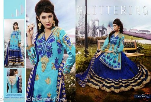 DESIGNER ETHNIC INDIAN SALWAR KAMEEZ SUIT ANARKALI BOLLYWOOD LEHENGA