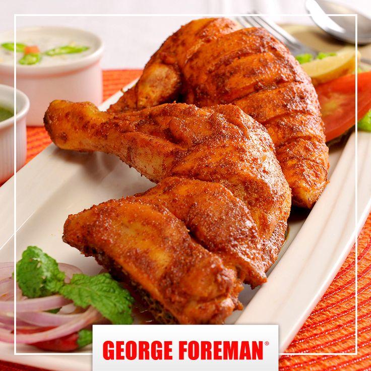 El pollo tandori, denominado también tandoori chicken, es un plato de pollo asado que data de la época del Imperio mongol en la india. Es muy popular en esa área así como en gran parte del este de Asia. ¿Ya lo has probado? :) #gastronomía #internacional #platillos #georgeforemanmx #alimentos #delicia