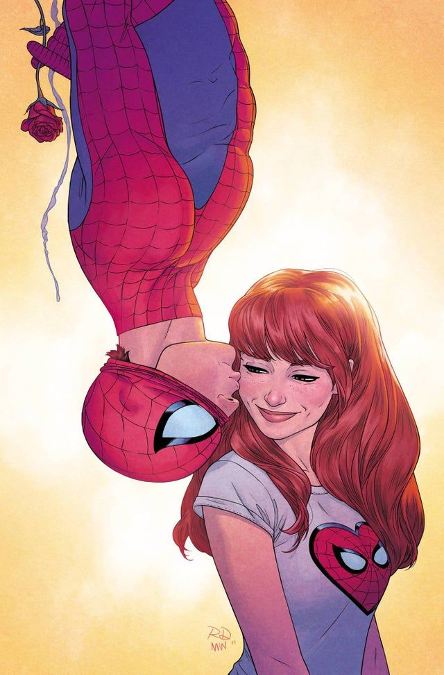 Spidey And Mj By Russell Dauterman And Matt Wilson Spiderman In