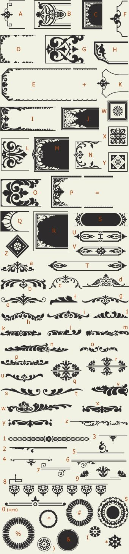 Letterhead Fonts / LHF Saratoga Ornaments / Ornaments and Dingbats