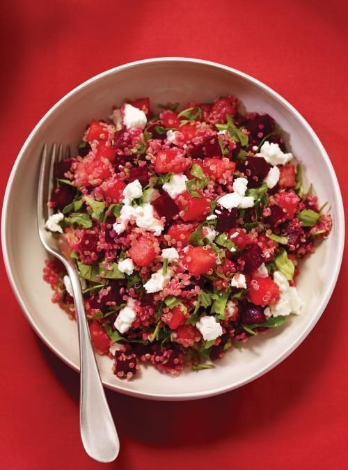 Salade de quinoa au melon et aux betteraves
