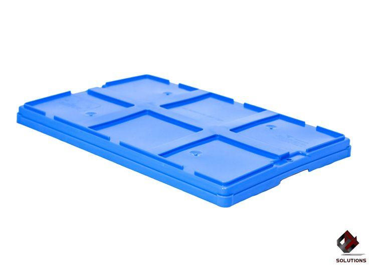 E4-1054 TAPA PARA CAJA MONTREAL  Fabricada en polietileno de Alta Densidad, no toxico y con grado alimenticio. Aprobado para productos que estén en contactos con alimentos, solo en material virgen. Dimensiones: 60 cm. x 40 cm. Color: Amarillo, Azul y Gris.