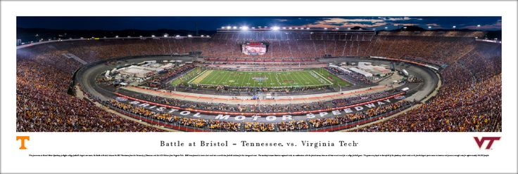 Unframed $34.95 - 2016 Battle at Bristol Panoramic Picture - Tennessee Volunteers vs. Virginia Tech Hokies