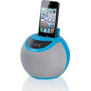 iLive ICP102BU Clock Radio for iPod and iPhone, Blue