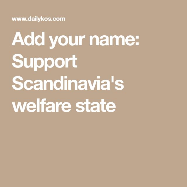Add your name: Support Scandinavia's welfare state