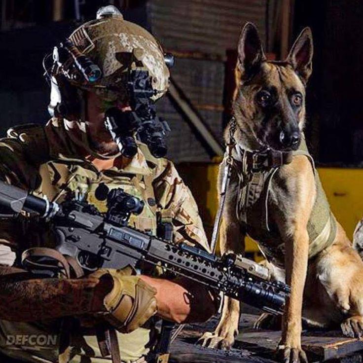 Military War K9 Soldier & Handler - God Bless & Protect you both!