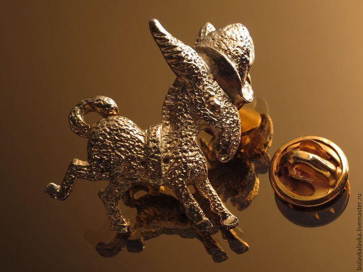 Купить Винтажная брошь Vintage brooch Donkey - винтажная брошь, брошь, украшения, винтажные украшения