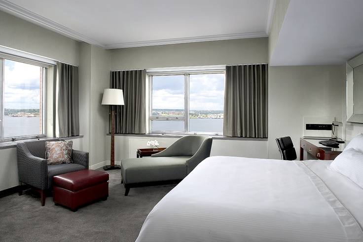 Enjoy expansive views of the Halifax Harbour in our Harbourview King Guestroom.