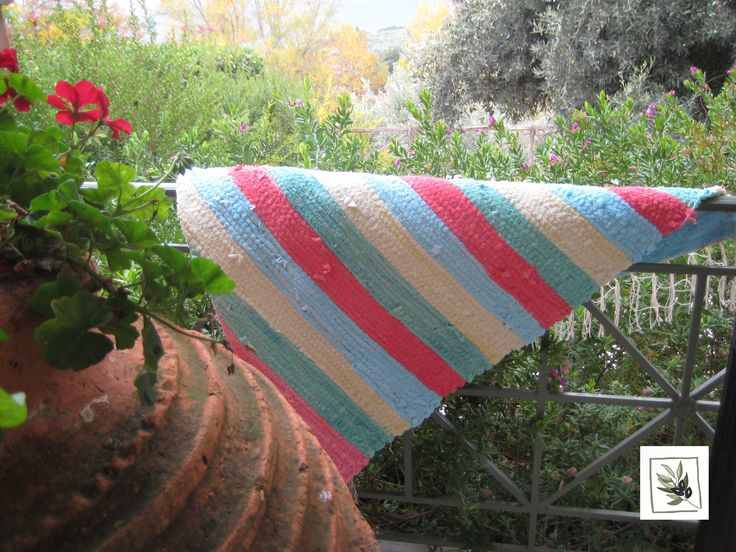 a rag rug made from the old towels of the eleonas hotel