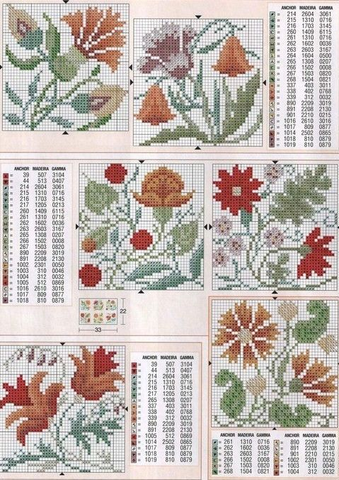 Cross-stitch Floral Biscornu... Gallery.ru / Фото #46 - KWIATY 4 - aaadelayda