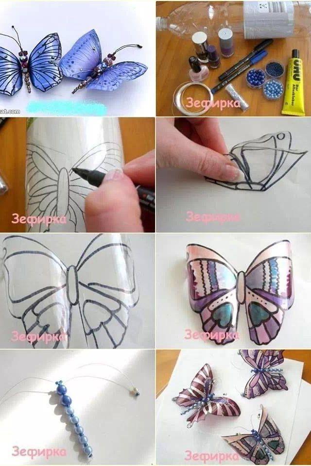 Schmetterling aus Petflasche