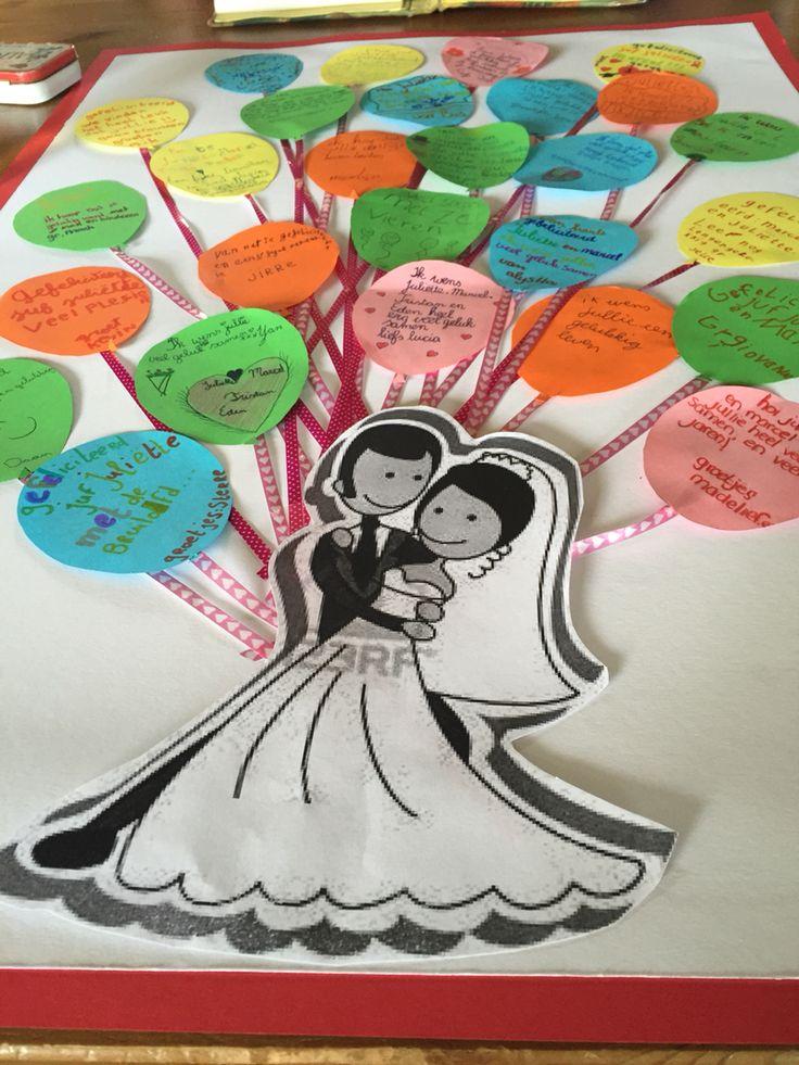Als de juf gaat trouwen en misschien niet meer op school komt dan kun je dit met alle kinderen maken.