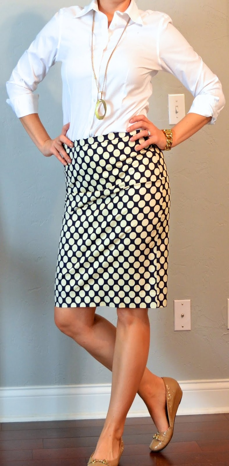 one suitcase: business casual - outfit 8 | Outfit Posts Dynamic--- love the skirt!!!