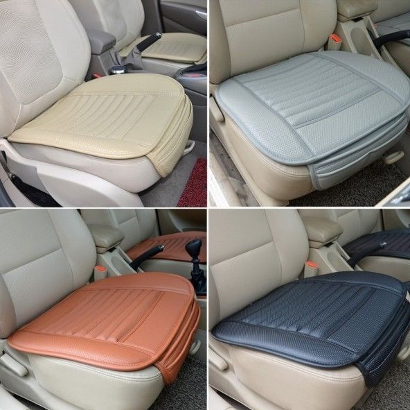 Universal Seat Cushion PU Leather Car Seat Cover for Auto Car Office Chairs Blac #Unbranded