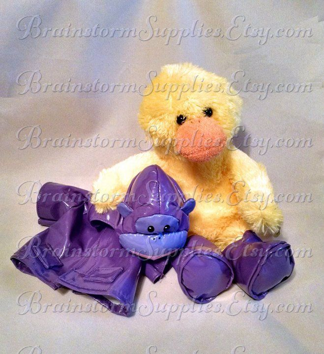 Can You Wash Stuffed Animals That Say Surface Wash Only 11 Yellow Duck With Monkey Raincoat Raincoat Is Removable Boots Are Attached Can Be Personalized With A Cute Plush Plush Animals