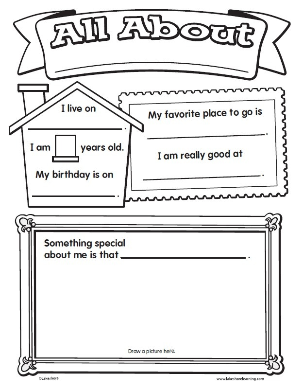 Worksheets All About Me Printable Worksheet the 25 best ideas about all me worksheet on pinterest give your kids an easy first day assignment with lakeshores worksheet