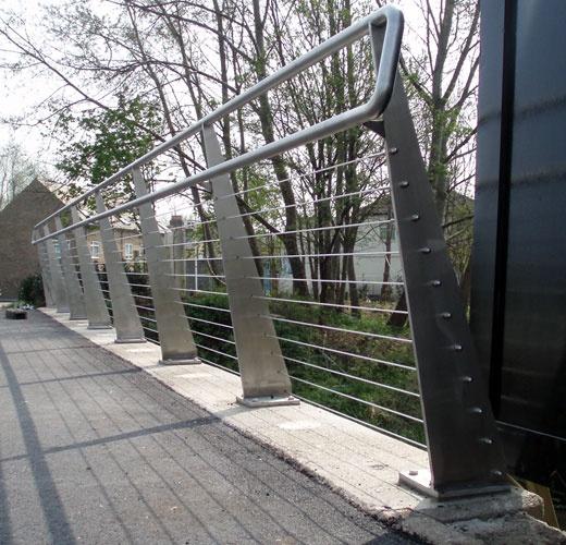 Footbridge Plans: Enfield Foot Bridge Cable Balustrade To Foot Bridge