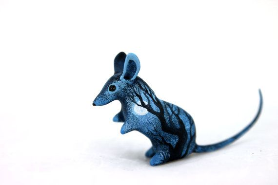 MADE TO ORDER Moon Wanderer Rat Mouse Totem figurine Animal art sculpture