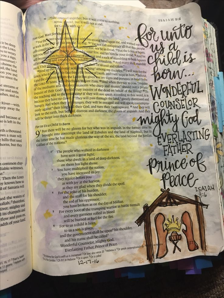 Isaiah 9:6 Bible Art Journaling by @patjournals