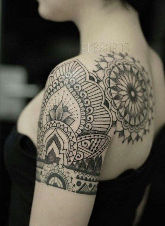 ... hülse tätowierung mandala tattoos hülse herz tattoo designs tattoos