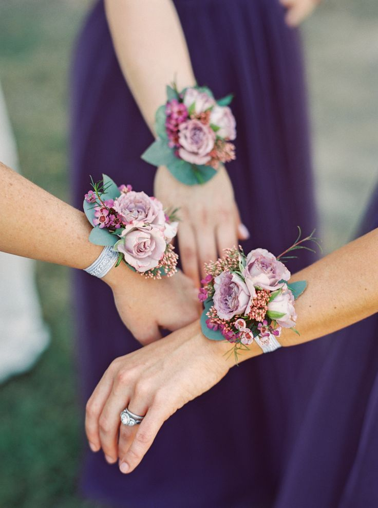 Dusty Purple Rose Corsages. Photo by Jessica Gold Photography