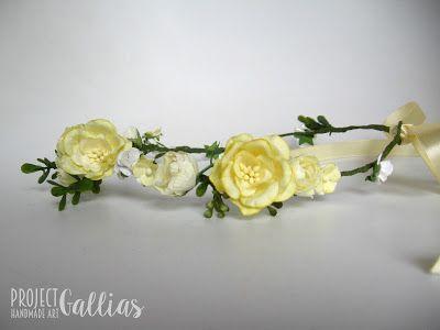 ProjectGallias: #projectgallias flower hair garland, wedding, communion, kwiatowy wianuszek na głowę, komunia, ślub, 100% handmade, rękodzieło boho