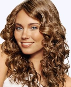 curly hair- light brown