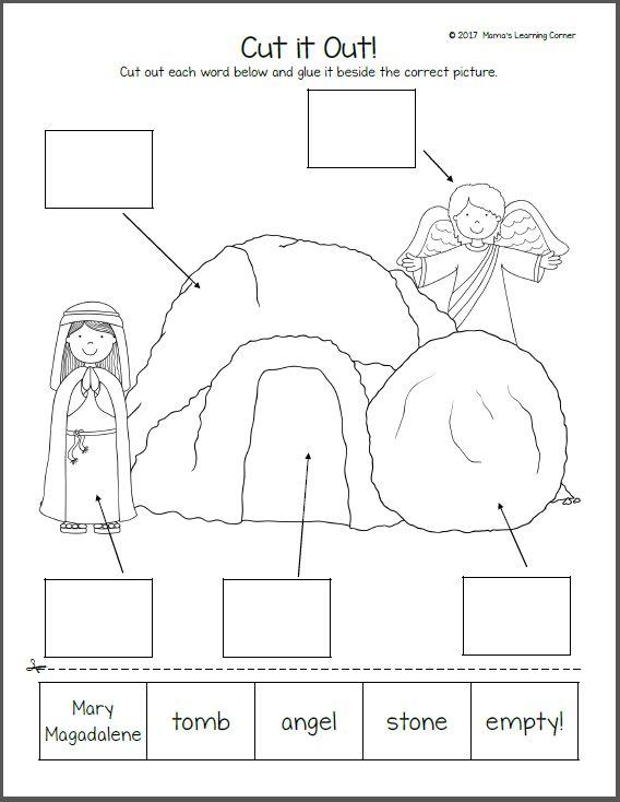 Christian easter worksheets for kindergarten