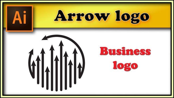 Arrow round logo - Adobe Illustrator tutorial