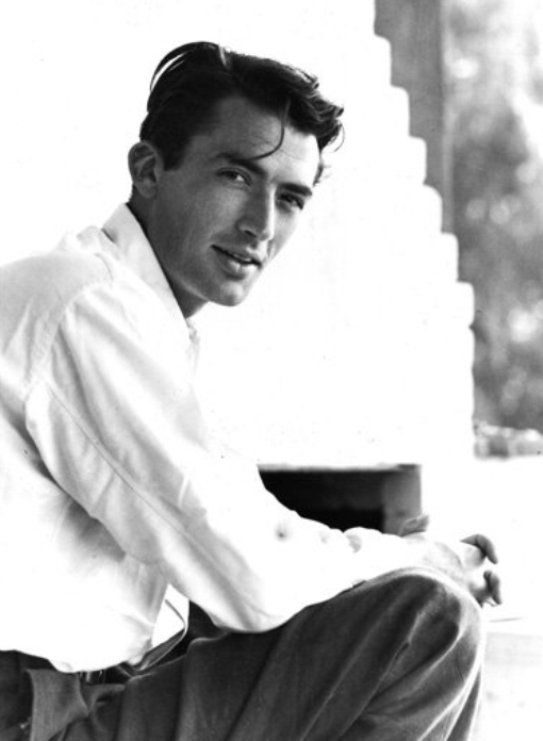 Gregory Peck (bb: the male actor I think is the MOST handsome, elegant, has an amazing voice and very high ethical standards. Dreamboat perfection!)