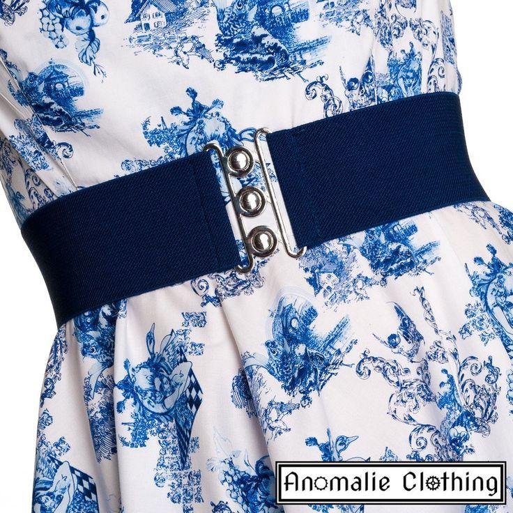 Navy Blue Retro Belt