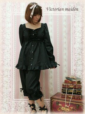 UNDERWEAR Sleepwear Pajamas | Lace Tunic Room Wear - Victorian Maiden |:| Lolita