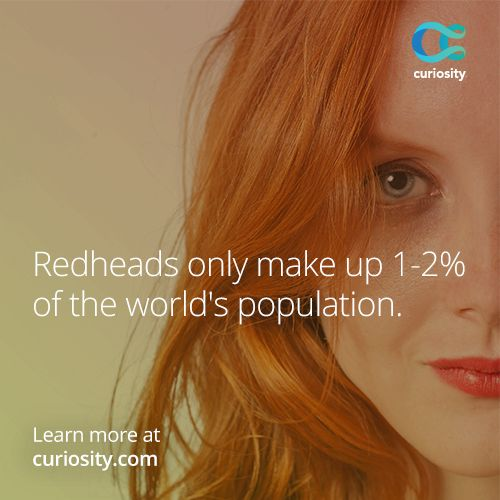 There's more to gingers than a fiery hair color. Redheads require 20% higher doses of anesthesia.  Learn why, plus more little-known truths about redheads: https://curiosity.com/courses/the-truth-about-gingers-scishow?utm_source=pinterest&utm_medium=pinterest&utm_campaign=061014pin
