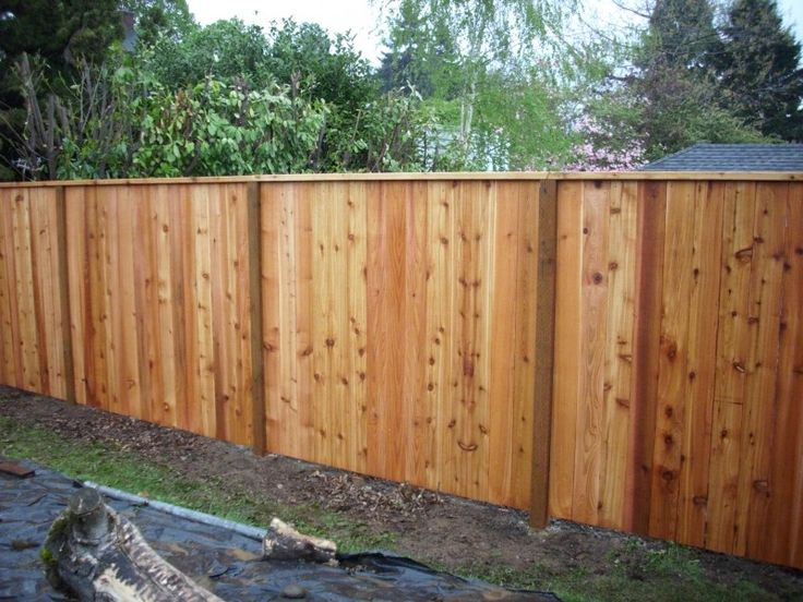 Cedar Fence With A Cedar 2x4 Cap House Pinterest