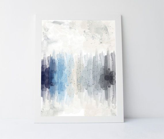 Icy shades print icy blue icy print abstract by PrintableGiftIdeas
