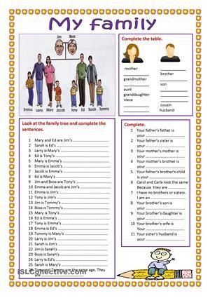 family my siblings pdf worksheet szukaj w google family pinterest worksheets. Black Bedroom Furniture Sets. Home Design Ideas