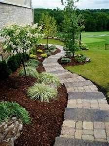 Mulch is a good way to control weeds and retain moisture. It also gives a finished look to the area. Landscaping ideas - Bing Images
