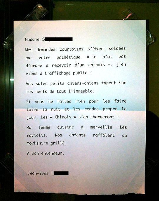mots des voisins !!!